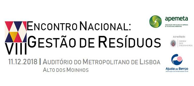VIII Encontro Nacional de Gestão de Resíduos a 11 de dezembro