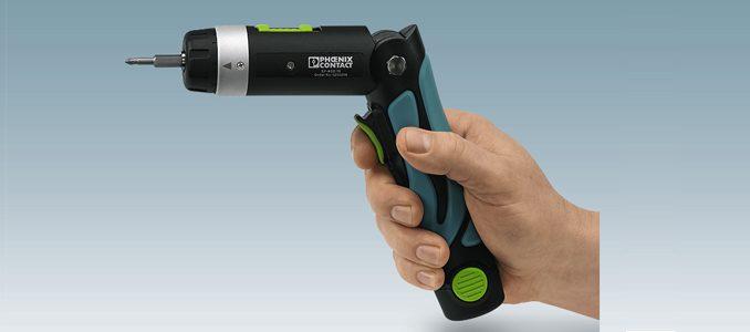 Phoenix Contact: aparafusadora a bateria compacta para trabalhos de aparafusamento simples