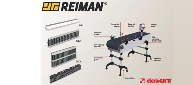 REIMAN: nova gama de componentes ELESA+GANTER para tapetes transportadores