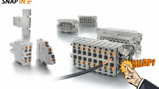 Weidmüller: nova tecnologia de ligação SNAP IN – rápido como um estalar de dedos