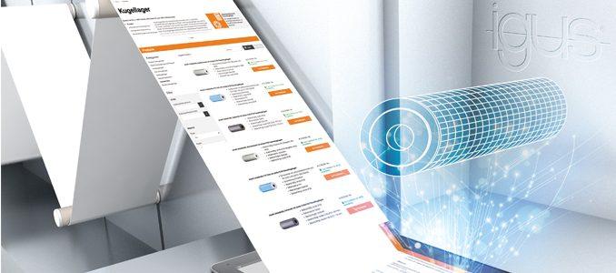 Nova ferramenta online para rolos transportadores isentos de manutenção da igus