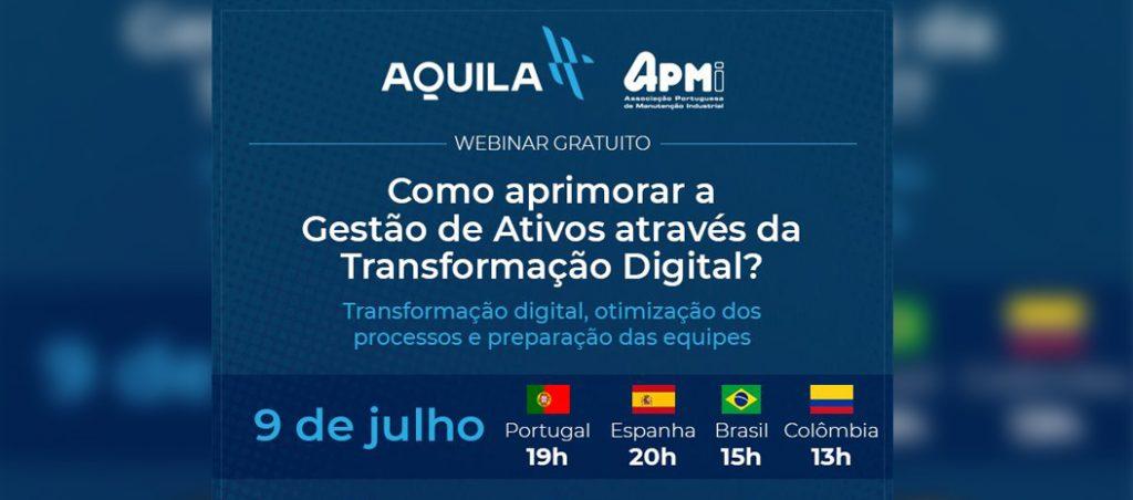 """Webinar gratuito """"Como aprimorar a Gestão de Activos através da Transformação Digital?"""""""