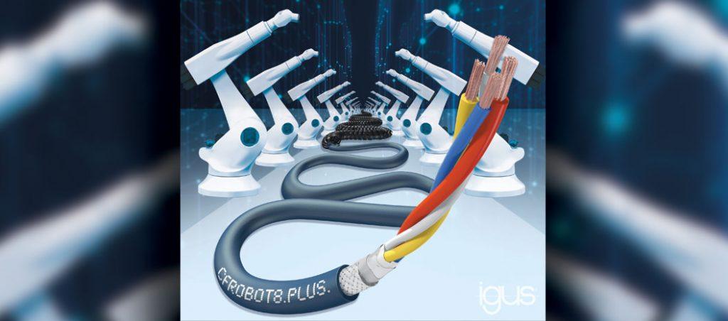 Cabos Ethernet da igus asseguram uma rápida comunicação em robots