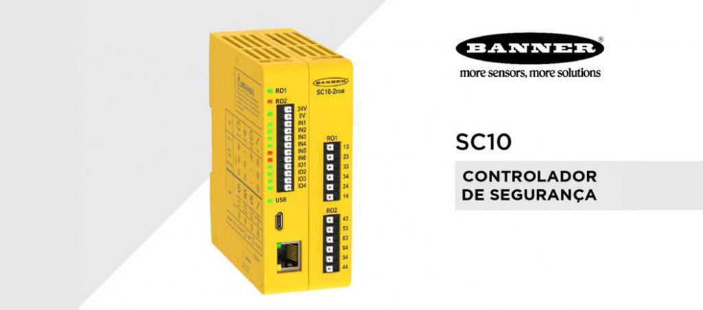 Controlador de segurança SC10 da Banner Engineering