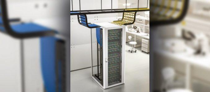 Novo rack de rede TX CableNet da Rittal: gestão de cabos de qualidade profissional
